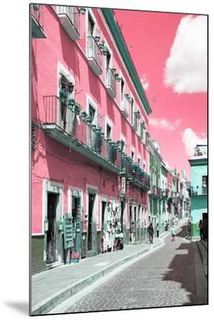 ?Viva Mexico! Collection - Pink Street Scene - Guanajuato-Philippe Hugonnard-Mounted Photographic Print