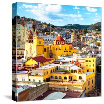 ¡Viva Mexico! Square Collection - Church Domes in Guanajuato-Philippe Hugonnard-Stretched Canvas Print
