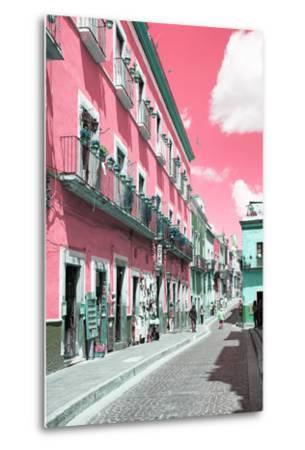 ?Viva Mexico! Collection - Pink Street Scene - Guanajuato-Philippe Hugonnard-Metal Print