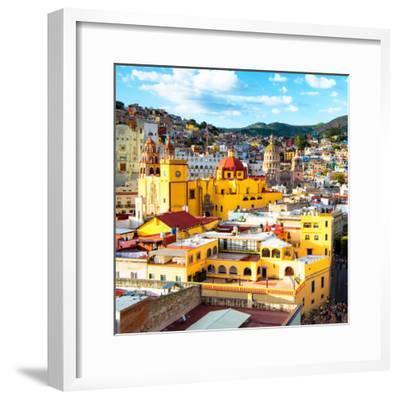 ¡Viva Mexico! Square Collection - Church Domes in Guanajuato-Philippe Hugonnard-Framed Photographic Print