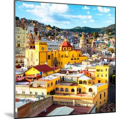 ¡Viva Mexico! Square Collection - Church Domes in Guanajuato-Philippe Hugonnard-Mounted Photographic Print