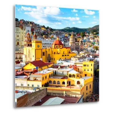 ¡Viva Mexico! Square Collection - Church Domes in Guanajuato-Philippe Hugonnard-Metal Print