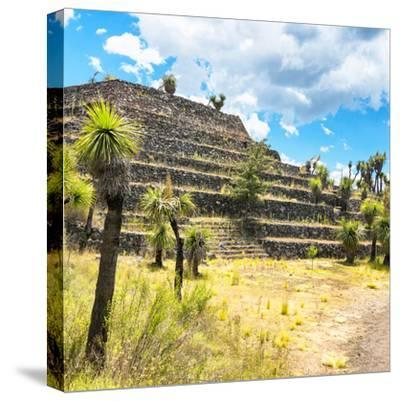 ¡Viva Mexico! Square Collection - Cantona Archaeological Ruins VI-Philippe Hugonnard-Stretched Canvas Print