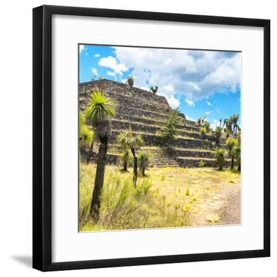 ¡Viva Mexico! Square Collection - Cantona Archaeological Ruins VI-Philippe Hugonnard-Framed Photographic Print