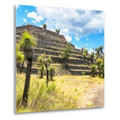 ¡Viva Mexico! Square Collection - Cantona Archaeological Ruins VI-Philippe Hugonnard-Metal Print