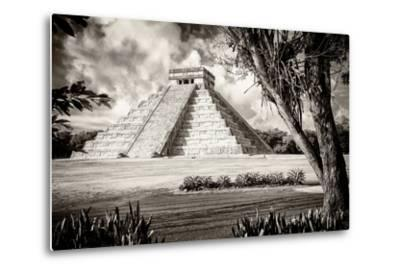 ?Viva Mexico! B&W Collection - El Castillo Pyramid XII - Chichen Itza-Philippe Hugonnard-Metal Print