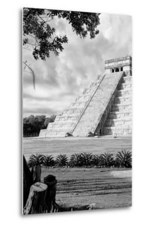 ?Viva Mexico! B&W Collection - Chichen Itza Pyramid IV-Philippe Hugonnard-Metal Print