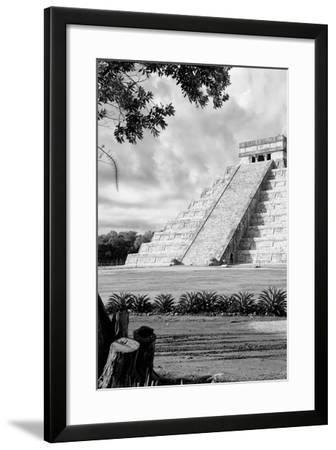 ?Viva Mexico! B&W Collection - Chichen Itza Pyramid IV-Philippe Hugonnard-Framed Photographic Print