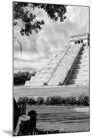 ?Viva Mexico! B&W Collection - Chichen Itza Pyramid IV-Philippe Hugonnard-Mounted Photographic Print