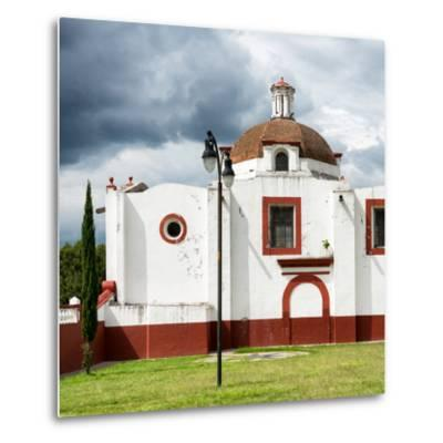¡Viva Mexico! Square Collection - Mexican Church-Philippe Hugonnard-Metal Print