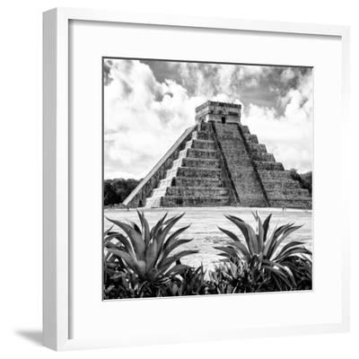 ¡Viva Mexico! Square Collection - Pyramid Chichen Itza X-Philippe Hugonnard-Framed Photographic Print