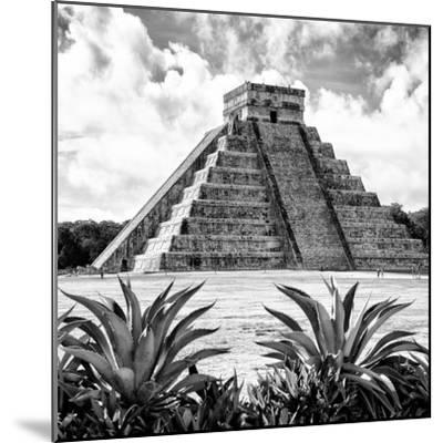 ¡Viva Mexico! Square Collection - Pyramid Chichen Itza X-Philippe Hugonnard-Mounted Photographic Print