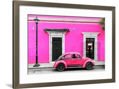 ?Viva Mexico! Collection - VW Beetle Car - Deep & Hot Pink-Philippe Hugonnard-Framed Photographic Print