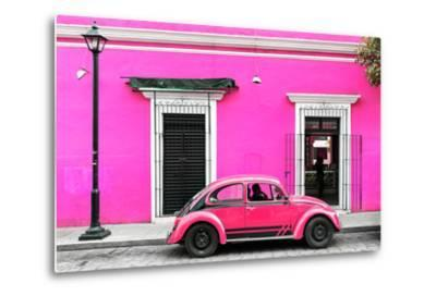 ?Viva Mexico! Collection - VW Beetle Car - Deep & Hot Pink-Philippe Hugonnard-Metal Print