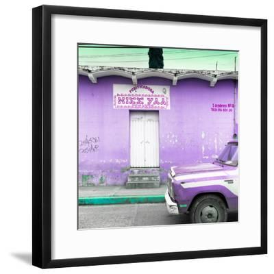 "¡Viva Mexico! Square Collection - ""5 de febrero"" Purple Wall-Philippe Hugonnard-Framed Photographic Print"