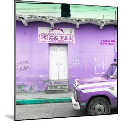 "¡Viva Mexico! Square Collection - ""5 de febrero"" Purple Wall-Philippe Hugonnard-Mounted Photographic Print"