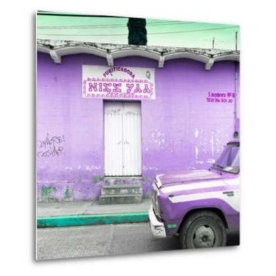"""¡Viva Mexico! Square Collection - """"5 de febrero"""" Purple Wall-Philippe Hugonnard-Metal Print"""