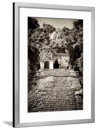 ¡Viva Mexico! B&W Collection - Mayan Ruins in Palenque III-Philippe Hugonnard-Framed Photographic Print