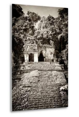¡Viva Mexico! B&W Collection - Mayan Ruins in Palenque III-Philippe Hugonnard-Metal Print