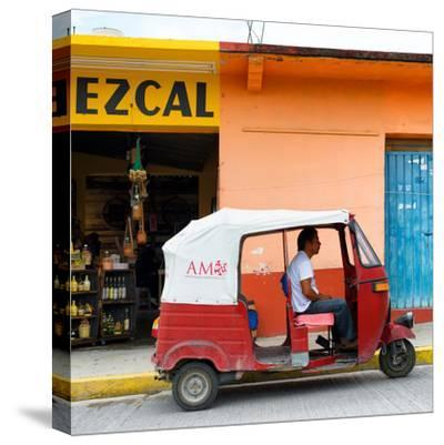 ¡Viva Mexico! Square Collection - Red Tuk Tuk-Philippe Hugonnard-Stretched Canvas Print