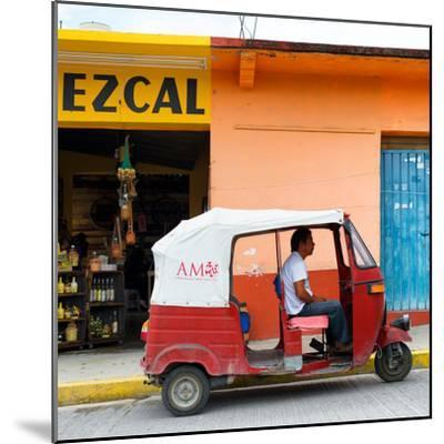 ¡Viva Mexico! Square Collection - Red Tuk Tuk-Philippe Hugonnard-Mounted Photographic Print