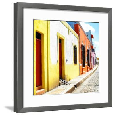¡Viva Mexico! Square Collection - Coloful Street-Philippe Hugonnard-Framed Photographic Print