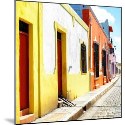 ¡Viva Mexico! Square Collection - Coloful Street-Philippe Hugonnard-Mounted Photographic Print