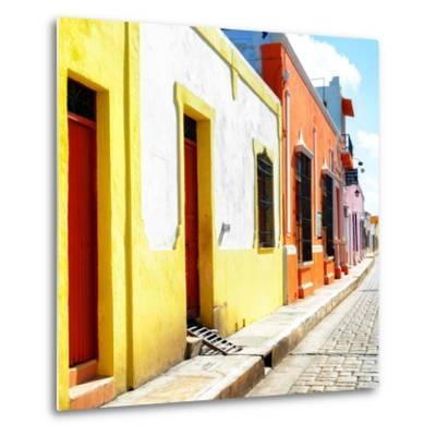 ¡Viva Mexico! Square Collection - Coloful Street-Philippe Hugonnard-Metal Print