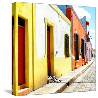 ¡Viva Mexico! Square Collection - Coloful Street-Philippe Hugonnard-Stretched Canvas Print