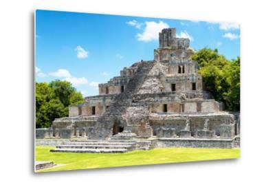 ¡Viva Mexico! Collection - Maya Archaeological Site IV - Edzna Campeche-Philippe Hugonnard-Metal Print