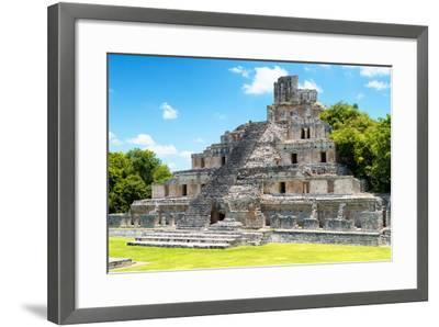 ¡Viva Mexico! Collection - Maya Archaeological Site IV - Edzna Campeche-Philippe Hugonnard-Framed Photographic Print