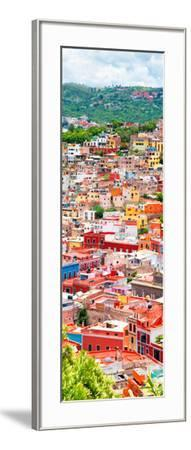 ¡Viva Mexico! Panoramic Collection - Guanajuato Colorful Cityscape XIII-Philippe Hugonnard-Framed Photographic Print