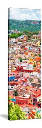 ¡Viva Mexico! Panoramic Collection - Guanajuato Colorful Cityscape XIII-Philippe Hugonnard-Stretched Canvas Print