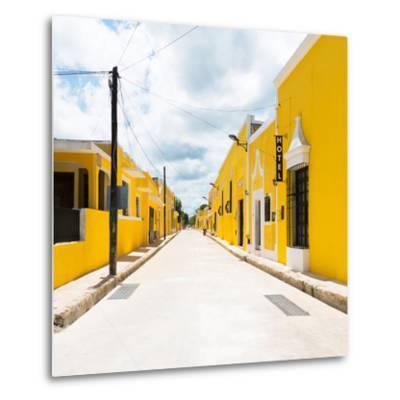 ¡Viva Mexico! Square Collection - The Yellow City II - Izamal-Philippe Hugonnard-Metal Print