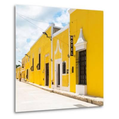 ¡Viva Mexico! Square Collection - The Yellow City - Izamal-Philippe Hugonnard-Metal Print