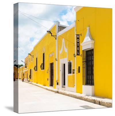 ¡Viva Mexico! Square Collection - The Yellow City - Izamal-Philippe Hugonnard-Stretched Canvas Print