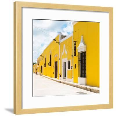 ¡Viva Mexico! Square Collection - The Yellow City - Izamal-Philippe Hugonnard-Framed Photographic Print