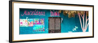 ¡Viva Mexico! Panoramic Collection - Turquoise Dani Supermarket-Philippe Hugonnard-Framed Photographic Print