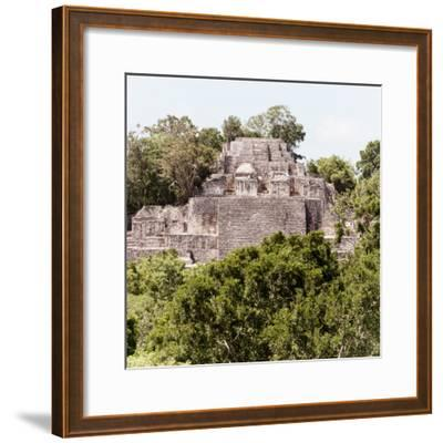 ¡Viva Mexico! Square Collection - Mayan Pyramid of Calakmul III-Philippe Hugonnard-Framed Photographic Print