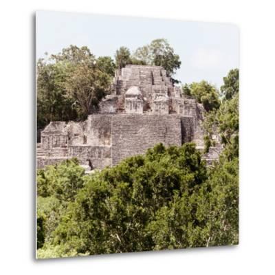 ¡Viva Mexico! Square Collection - Mayan Pyramid of Calakmul III-Philippe Hugonnard-Metal Print