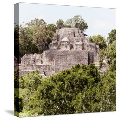 ¡Viva Mexico! Square Collection - Mayan Pyramid of Calakmul III-Philippe Hugonnard-Stretched Canvas Print