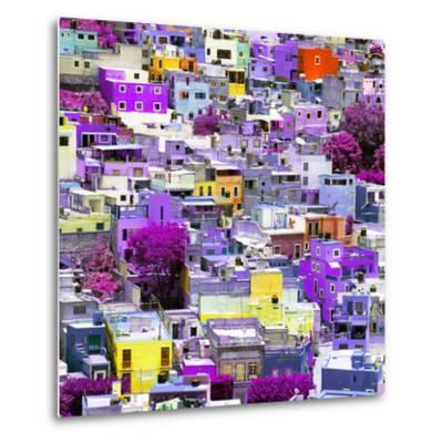 ¡Viva Mexico! Square Collection - Colorful Guanajuato XVI-Philippe Hugonnard-Metal Print