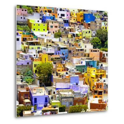 ¡Viva Mexico! Square Collection - Guanajuato Colorful Cityscape I-Philippe Hugonnard-Metal Print