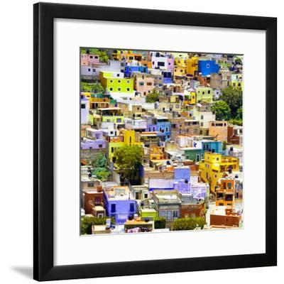 ¡Viva Mexico! Square Collection - Guanajuato Colorful Cityscape I-Philippe Hugonnard-Framed Photographic Print