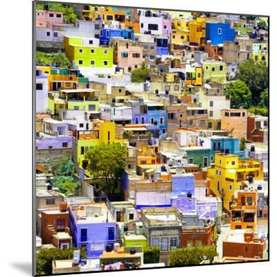¡Viva Mexico! Square Collection - Guanajuato Colorful Cityscape I-Philippe Hugonnard-Mounted Photographic Print