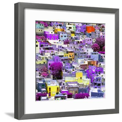 ¡Viva Mexico! Square Collection - Colorful Guanajuato XVI-Philippe Hugonnard-Framed Photographic Print