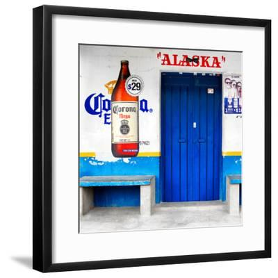 "¡Viva Mexico! Square Collection - ""ALASKA"" Blue Bar-Philippe Hugonnard-Framed Photographic Print"