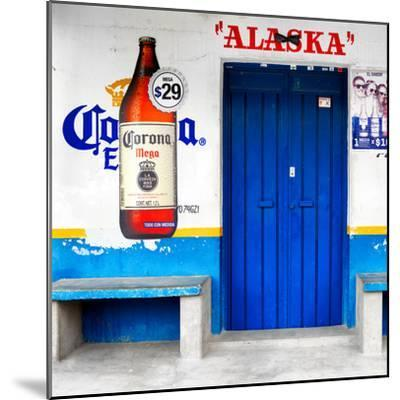 "¡Viva Mexico! Square Collection - ""ALASKA"" Blue Bar-Philippe Hugonnard-Mounted Photographic Print"