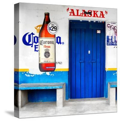 """¡Viva Mexico! Square Collection - """"ALASKA"""" Blue Bar-Philippe Hugonnard-Stretched Canvas Print"""