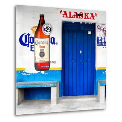 "¡Viva Mexico! Square Collection - ""ALASKA"" Blue Bar-Philippe Hugonnard-Metal Print"